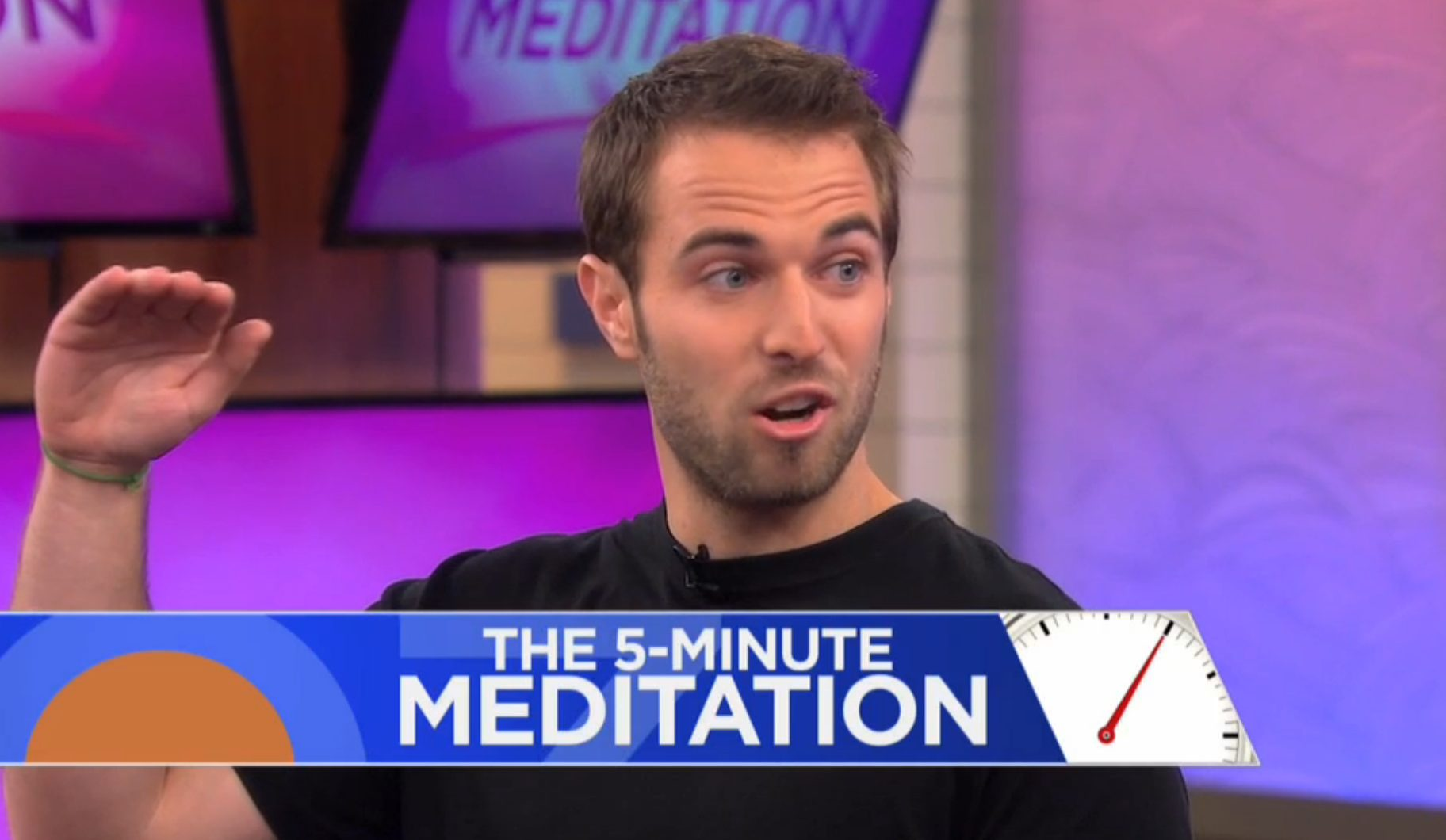 The Dr. Oz Show : Cory sharing benefits of daily 5-Minute Meditation