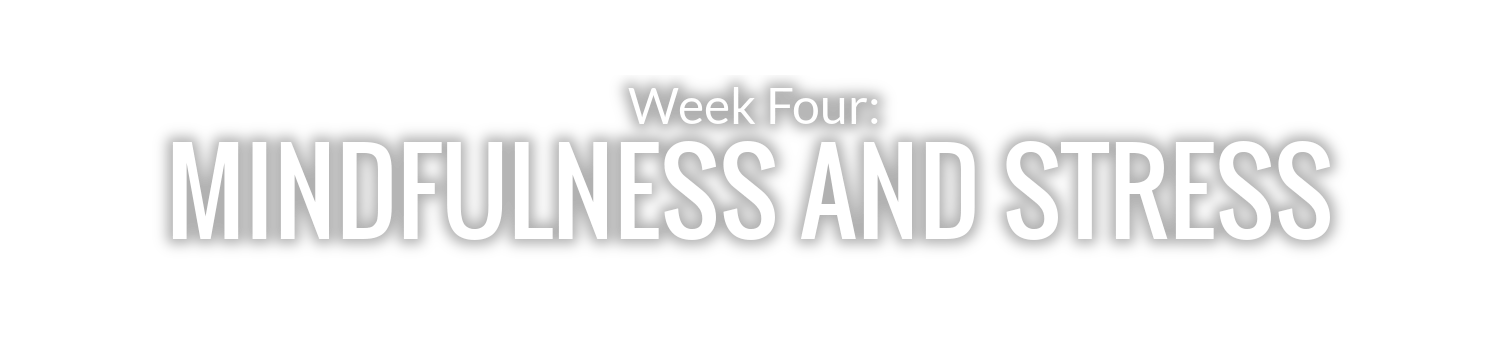 WEEK 4: MINDFULNESS AND STRESS