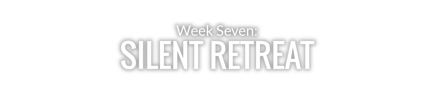 WEEK 7: SILENT RETREAT